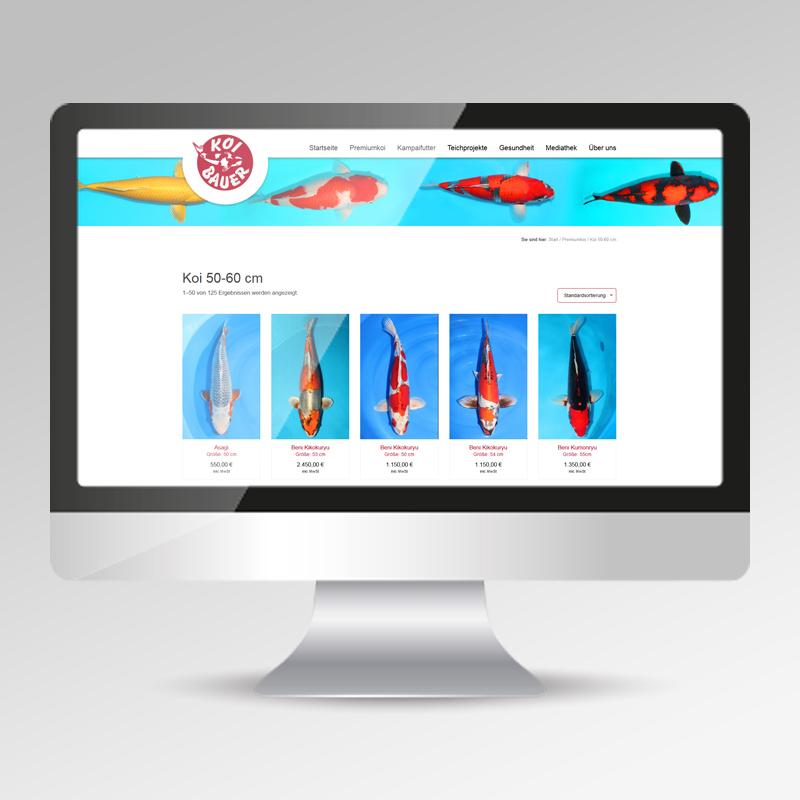 Guehs Werbemedien - Koi-Bauer, Webdesign, Website, Onlineauftritt, in, Ingolstadt, Regensburg, Straubing