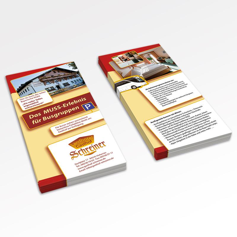 Guehs Werbemedien - Flyer, Landhotel, Gasthof, Regensburg, Straubing